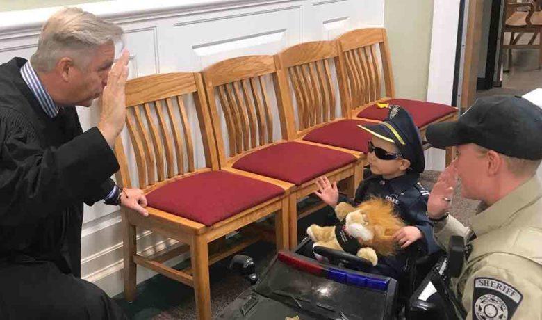 Four-year-old Pinedale Boy Sworn in as Honorary Junior Deputy