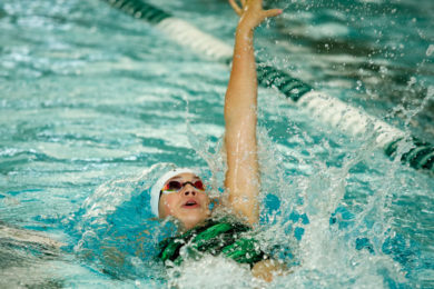 Lady Wolves Take Top Spot in Home Swim Meet